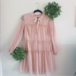 WHO WHAT WEAR blush pink dress size small